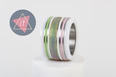 iXXXi Kombi 14 mm Keramik Rainbow Green/Pink Line