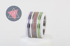iXXXi Kombi 14 mm Keramik Rainbow Purple/Green Line