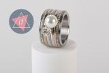 iXXXi Kombi 14 mm silber/white opal Pearl