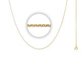 1 mm Halskette (Länge 60+5 cm)