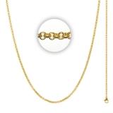 3 mm Halskette (Länge 80 cm)