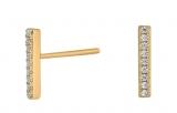 FiraNor Ohrringe 10mm vergoldet