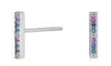 FiraNor Ohrringe 10mm rhodiniert silber